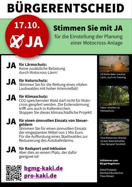Flyer Bürgerentscheid Kaltenkirchen