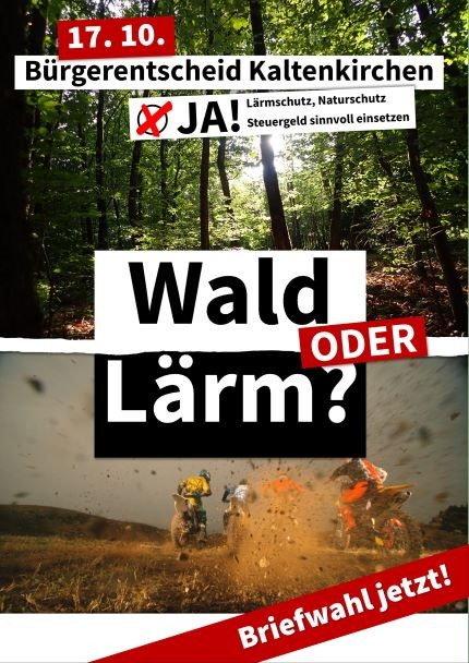 Wahlplakat Bürgerentscheid Kaltenkirchen